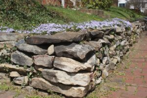 rock retaining wall, retaining wall